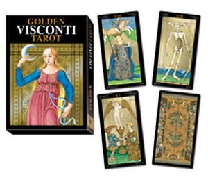 Karty Tarota - Golden Visconti Tarot - Wielkie Arkana - Lo scarabeo